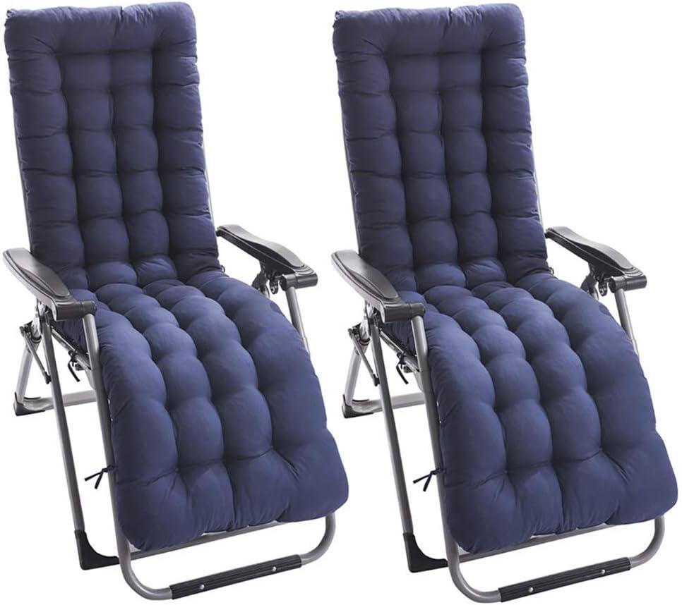Skyout 2pcs Cojines para Silla de salón, Cojín colchón Colchoneta para Tumbona de jardín Portable Acolchado en Patio reclinable alisador 155 * 48cm (Gris): Amazon.es: Hogar