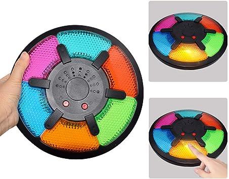 Greetuny Six Grid Memoria de Color Juegos de Mesa para Niños/Adultos Interactivo Concentración Juego con Luz de música Pitido Solitario/Multijugador Portátil Juego de Memoria Familiares Viaje: Amazon.es: Juguetes y juegos