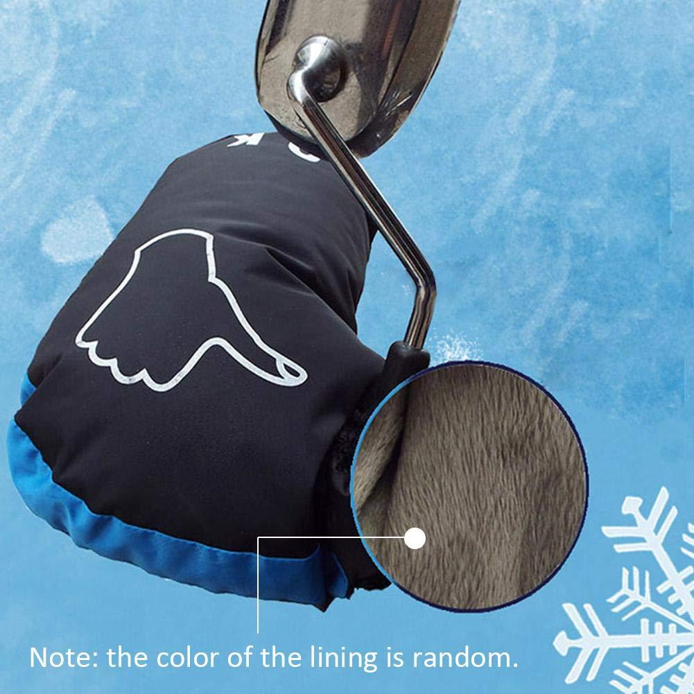 Guanti da Moto Anti-Freddo per Parabrezza Unisex in Velluto Impermeabili Sunneey Invernali Guanti da Ciclismo Manubrio Caldi