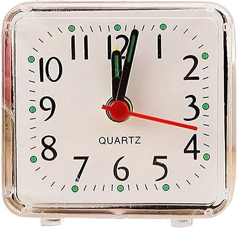 Square Small Cute Bed Compact Travel Quartz Beep Alarm Clock Cute Portable Hot