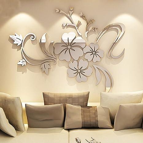 DS Adesivi Specchio Adesivi Murali 3D Finestra Acqua Decorazioni Per La Casa  Decorazioni Per