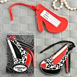 Shoe design luggage tags in decorative 24 piece display box - 96 count