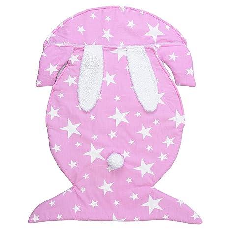 AOLVO - Saco de Dormir para bebé, Manta de Forro Polar Gruesa y cálida para