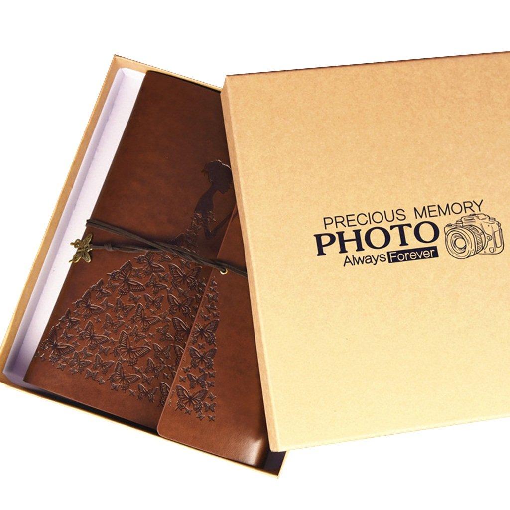 SESO UK- Álbum de fotos fotos de retro de la manera, álbum hecho a mano del álbum de recuerdos del aniversario de la pareja de la PU, Álbum de las fotos del memorando de la boda (21  28cm) ( Color : Rojo ) c8e062