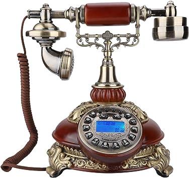 ASHATA teléfono Retro, teléfono de Moda Vintage, inalámbrico, Estilo Retro, Tarjeta de teléfono de Madera clásica, teléfono inalámbrico para Regalos, Sala de Estar, Hotel, Tienda en casa, etc.: Amazon.es: Electrónica
