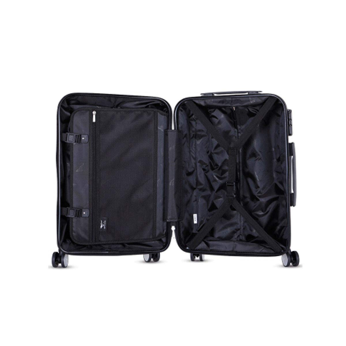 Simple Trolley case Black Muziwenti Travel Suitcase Simple Hard Travel Bag Color : Gray 24 inches The Latest Style Travel Organizer