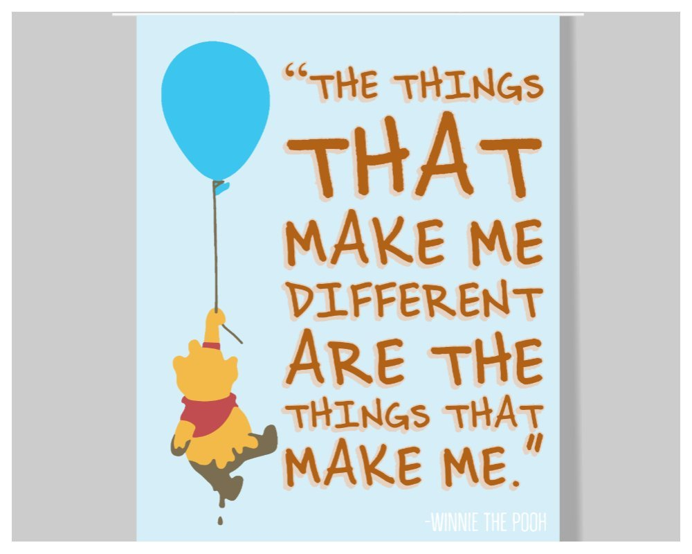 Amazon Com Winnie The Pooh Quote Poster 16 X 20 Motivational