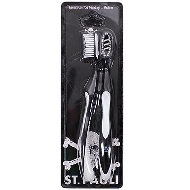 Cepillo de dientes St Pauli juego de diseño de calavera Negro negro Talla:talla única: Amazon.es: Deportes y aire libre