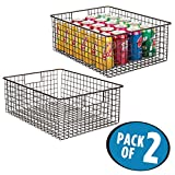 pantry air freshener - mDesign Kitchen Pantry Organizing Wire Basket with Handles, 16