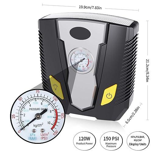 Compresor de Aire, inflador automático de neumáticos 150PSI 12V DC ...