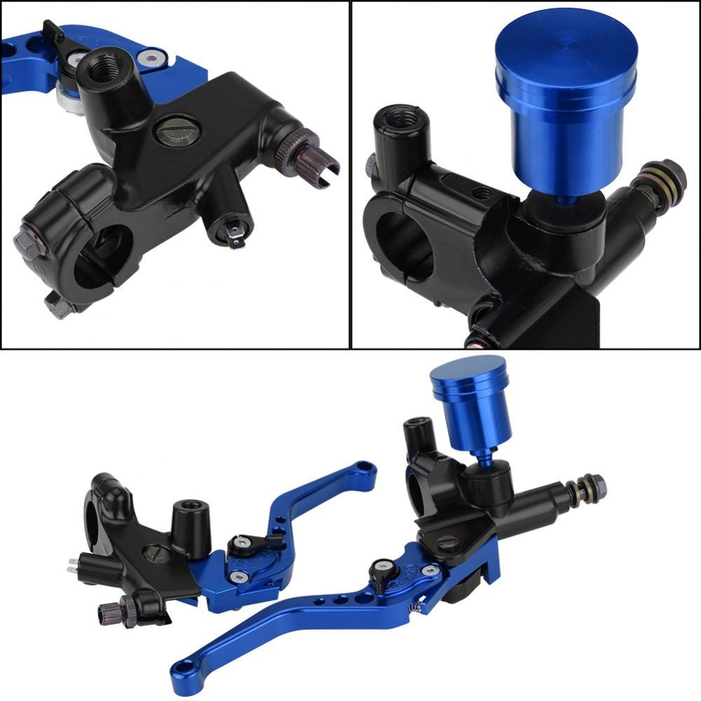 kimiss 1/Pair of 22/mm Hydraulic Pump Brake /& Clutch/ /CNC Adjustable Motorcycle Brake Lever The Cylinder default blue