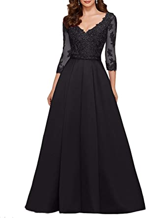 1342669e11 Scarisee Women s 3 4 Long Sleeves V-Neck Beaded Evening Prom Party Dresses  Lace