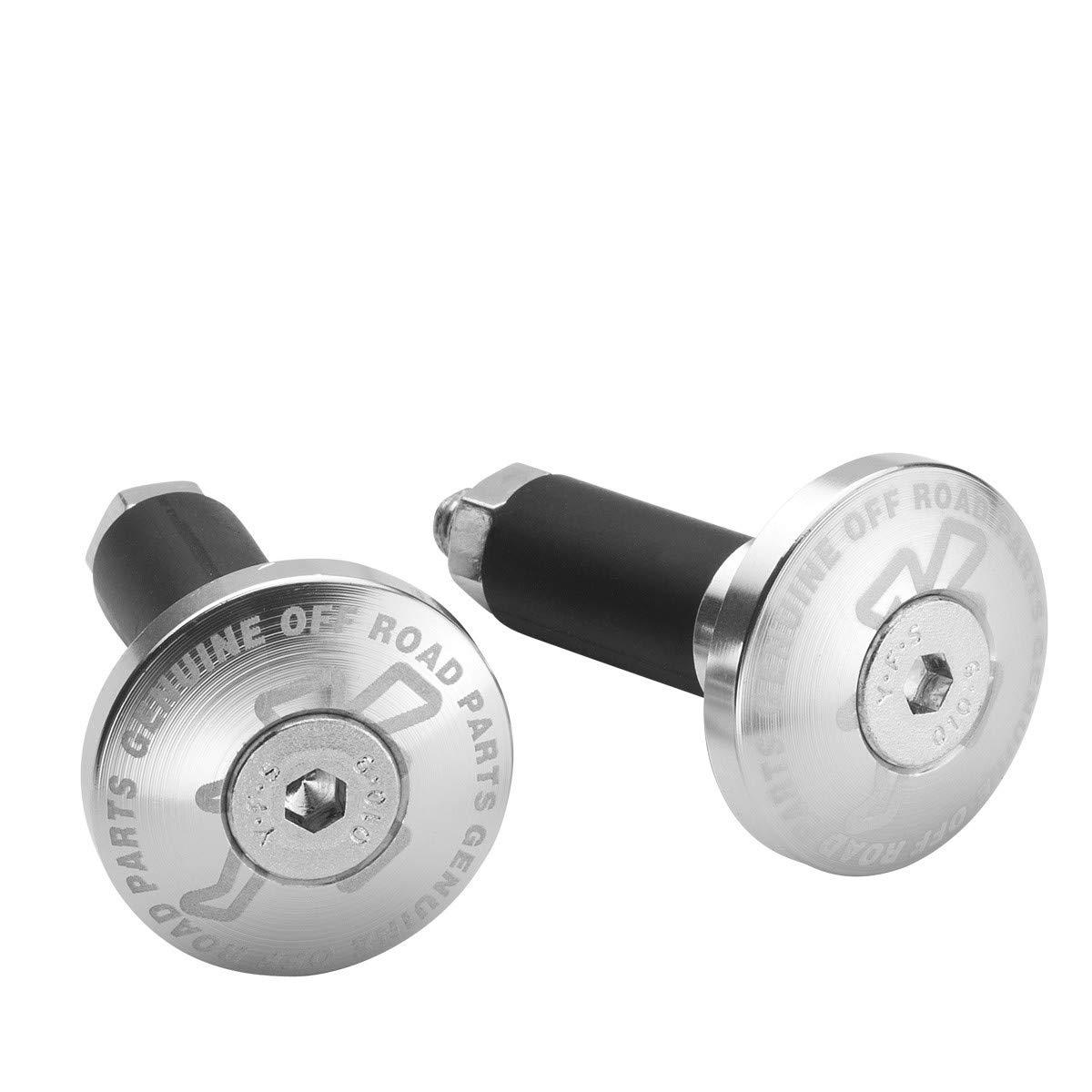 HR2250202R Topes terminales de manillar aluminio trial DUAL OFF ROAD HEBO