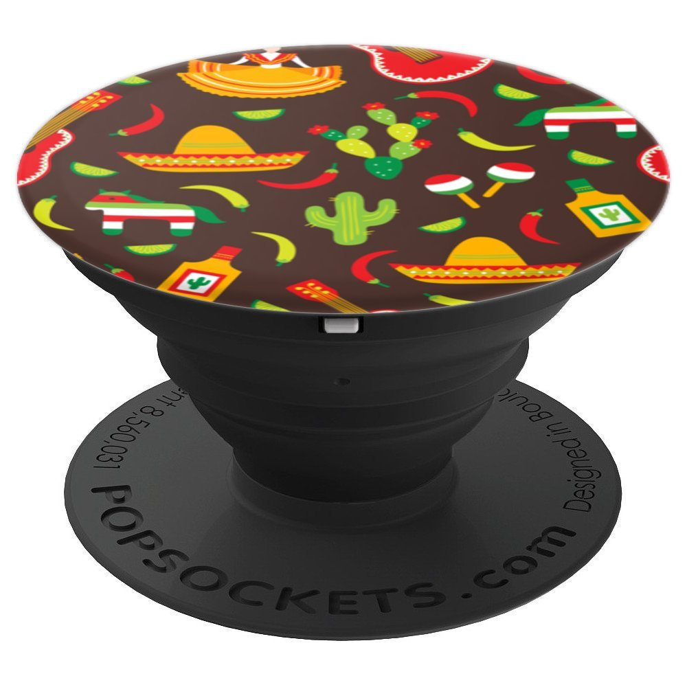 Mexican Pride No Border Wall - PopSockets Grip and Stand for Phones and Tablets