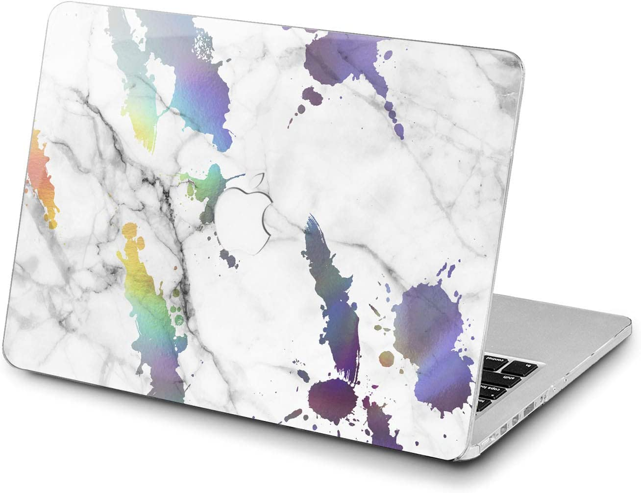 Lex Altern Hard Case for Apple MacBook Pro 15 Air 13 inch Mac Retina 12 11 2020 2019 2018 2017 2016 Cover Laptop Print Girls Artistic Shell Rainbow Modern Colorful Women Stone Marble Plastic White