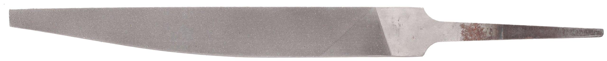 Nicholson Hand File, American Pattern, Double Cut, Knife, Medium, 6'' Length