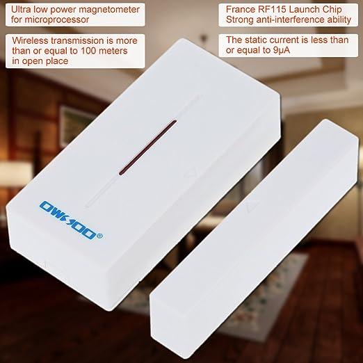 OWSOO Detector Sensor Inalámbrico para Puerta Ventana Alarma Sistema de Seguridad: Amazon.es: Bricolaje y herramientas