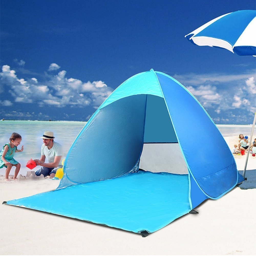 Pop Up Beach Tent Augymer UV Protection Portable 2 Person Folding Pop Up Sun Shelters Shade Lightweight Hiking C&ing Beach Canopy Cabana Backpacking ... & Pop Up Beach Tent Augymer UV Protection Portable 2 Person Folding ...