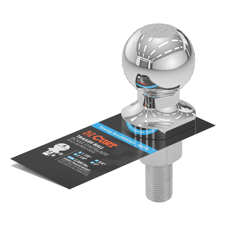 CURT Manufacturing 40015 1-7/8 In. Diameter Chrome Trailer Ball