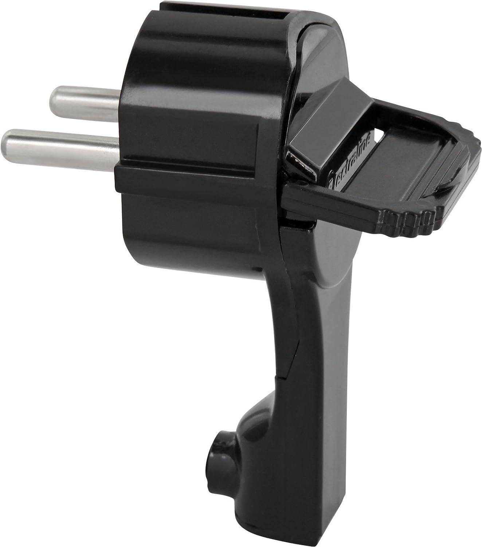 /con manico pieghevole e antipiega/ /Nero /250/V 16/a/ SuperSlim con contatto di spina angolare/ /extraflach 8/mm/ /per cavi fino a 3/X 1,5/mm/²/