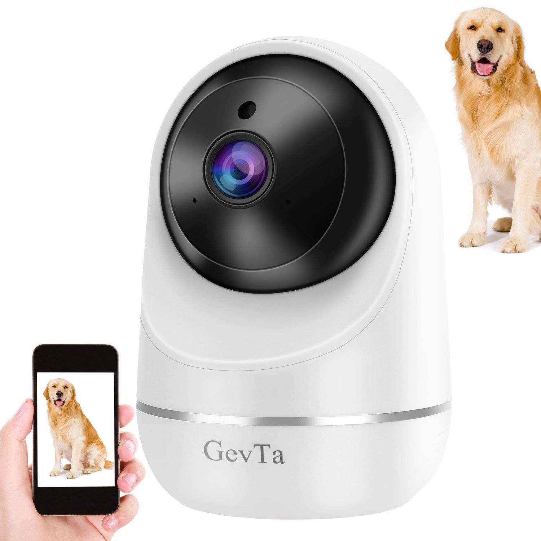 GevTa Pet Camera,FHD Dog Camera WiFi Pet Monitor Indoor Cat Camera Night Vision 2 Way Audio and Motion Detection by GevTa