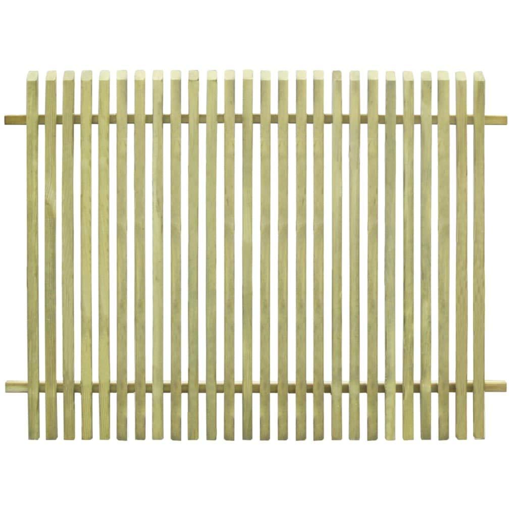 VidaXL Legno Impregnato FSC Recinzione da Giardino 170x125cm Recinto Steccato