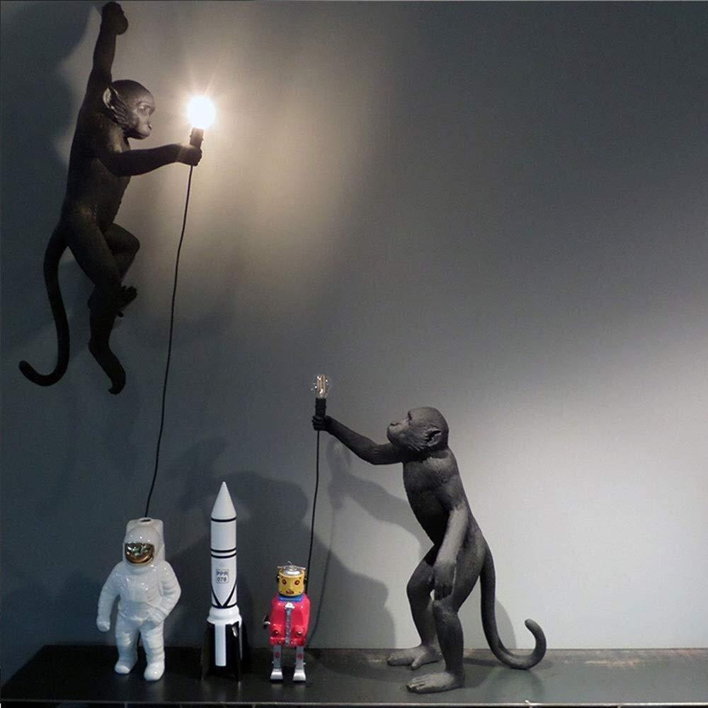 Color : A Xiao Lampada in Resina Lampada Scimmia-Soggiorno Esterno Sala da Pranzo Camera da Letto lampadario Lampada da Tavolo Lampada da Parete 46X27.5X54 cm