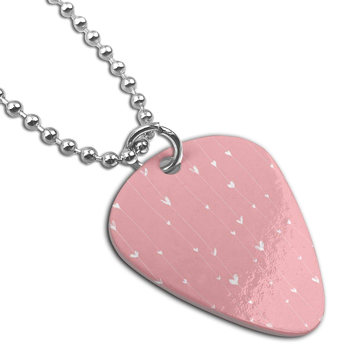 Sheery Love Dog Tag Pendant With Guitar Bassiform