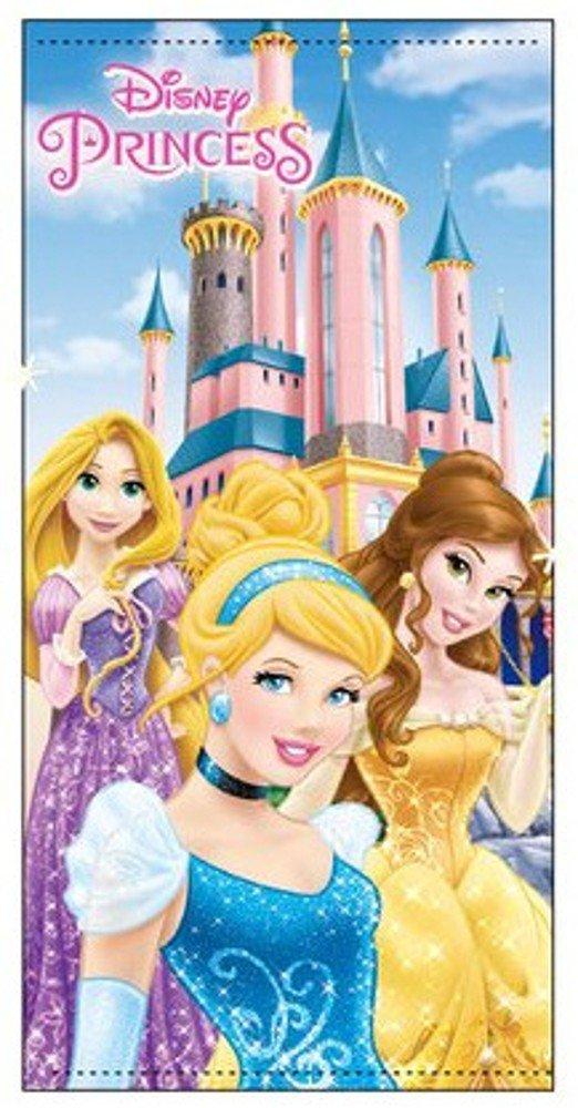 Disney Princess Childrens Kids Girls Bath Beach Towel 100% Cotton 70 X 140 CM - Blue