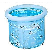 Inflatable Bathtub Foldable Kids Fishing Pool Beach Pool Portable Adult Children Adjustable Bathtub Bath Barrel Household Items Storage Bucket Save Space Insulation (60cm)