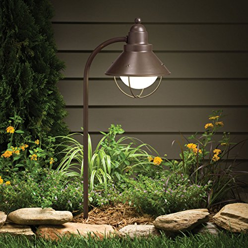Cheap  Kichler 15239OZ Seaside Path & Spread 1-Light 120V, Olde Bronze