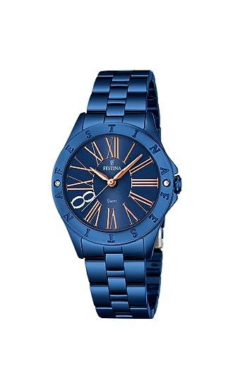 Festina F16927/2 - Reloj de Pulsera analógico para Mujer, de Cuarzo, Revestimiento de Acero Inoxidable: Festina: Amazon.es: Relojes