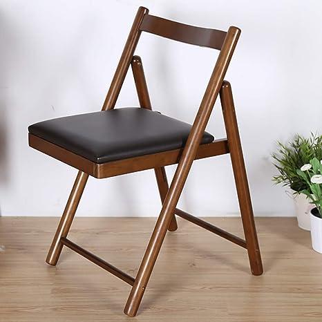 Amazon.com: LHcy Silla de comedor plegable, silla de café ...