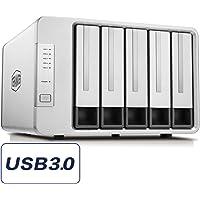 TerraMaster D5-300C 60TB External 3.5 Hard Drive Enclosure (Diskless)