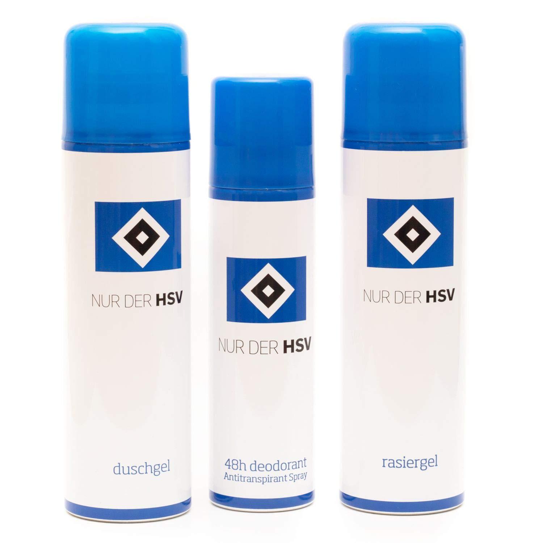 Hamburger SV Kö rperpflegeset (Deodorant, Duschgel, Rasiergel) 3-teilig HSV - Plus gratis Lesezeichen I Love Hamburg