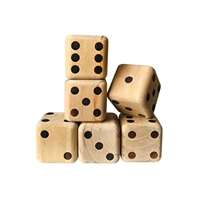 YH poker Yardzee Giant Wooden Playing Yard Dice: Toys & Games