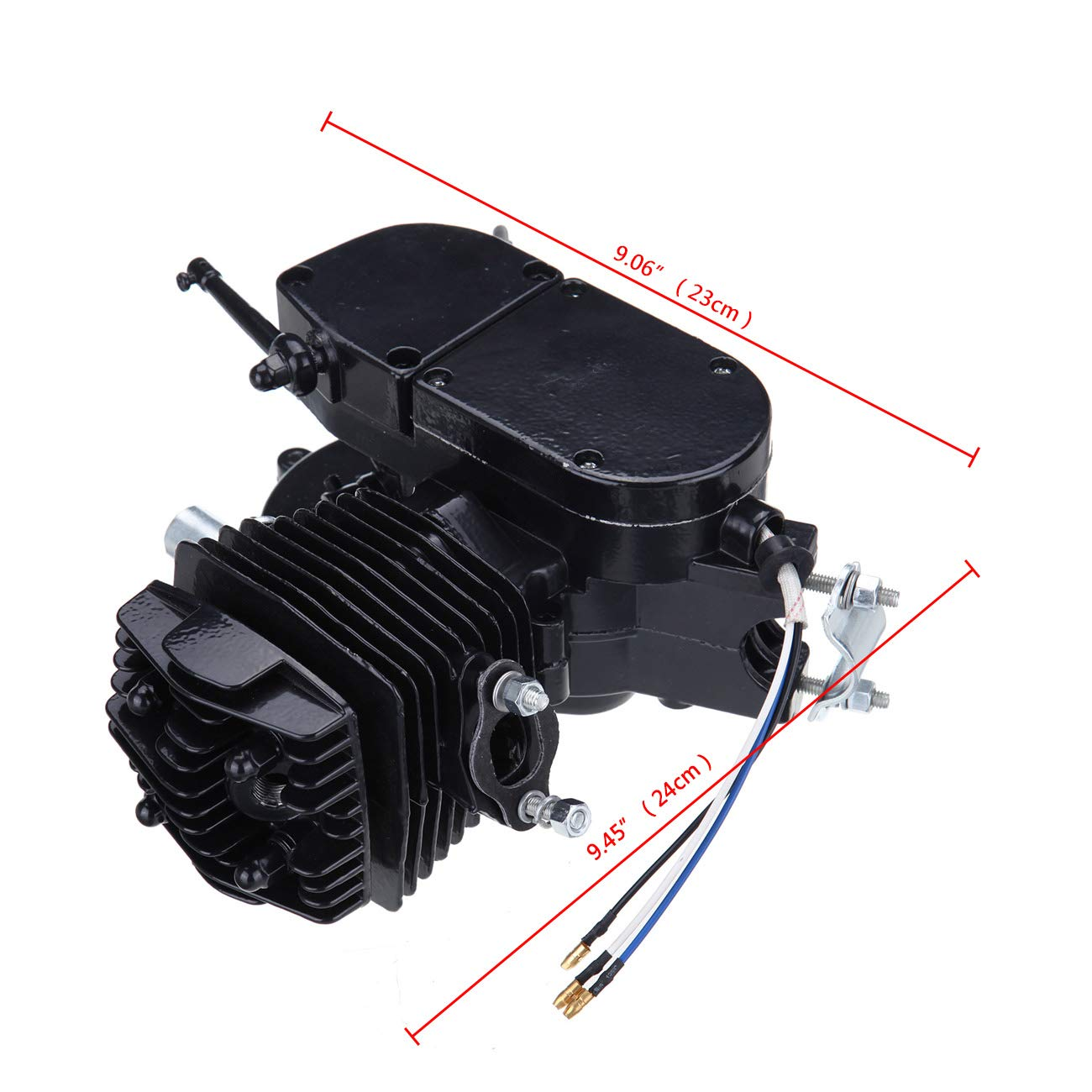 Sange 2 Stroke Pedal Cycle Petrol Gas Motor Conversion Kit Air Cooling Motorized Engine Kit for Motorized Bike (Negro, 50cc): Amazon.es: Coche y moto