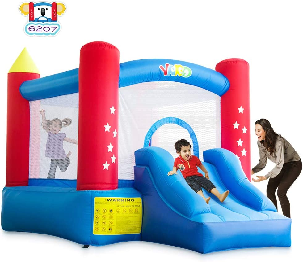 Amazon Com Yard Outdoor Indoor Bounce House Slide W Heavy Duty Blower For Kids 6207 Extra Thick Material 420d Nylon Jump Castle Toys Games