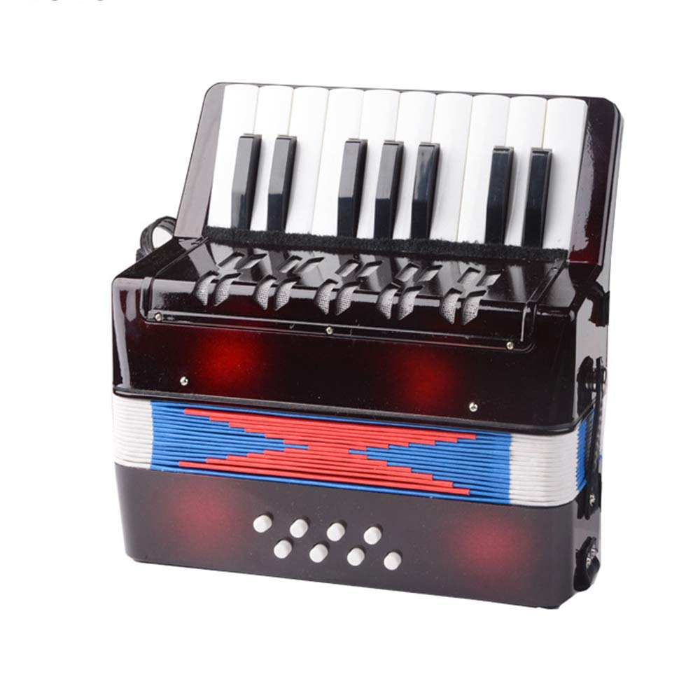 TECHLINK Childern Accordion Musical Education Musical Instrument Accordions Toy Portable 17 Keys 8 Bass Promotes Children's Gift by TECHLINK (Image #2)