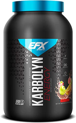 EFX Sports Karbolyn Energy Pre-Workout Carbohydrate Supplement Powder Added Energy Carb Load, Energize, Improve Faster Easy to Mix Fruit Punch 4 LB 4.8 OZ