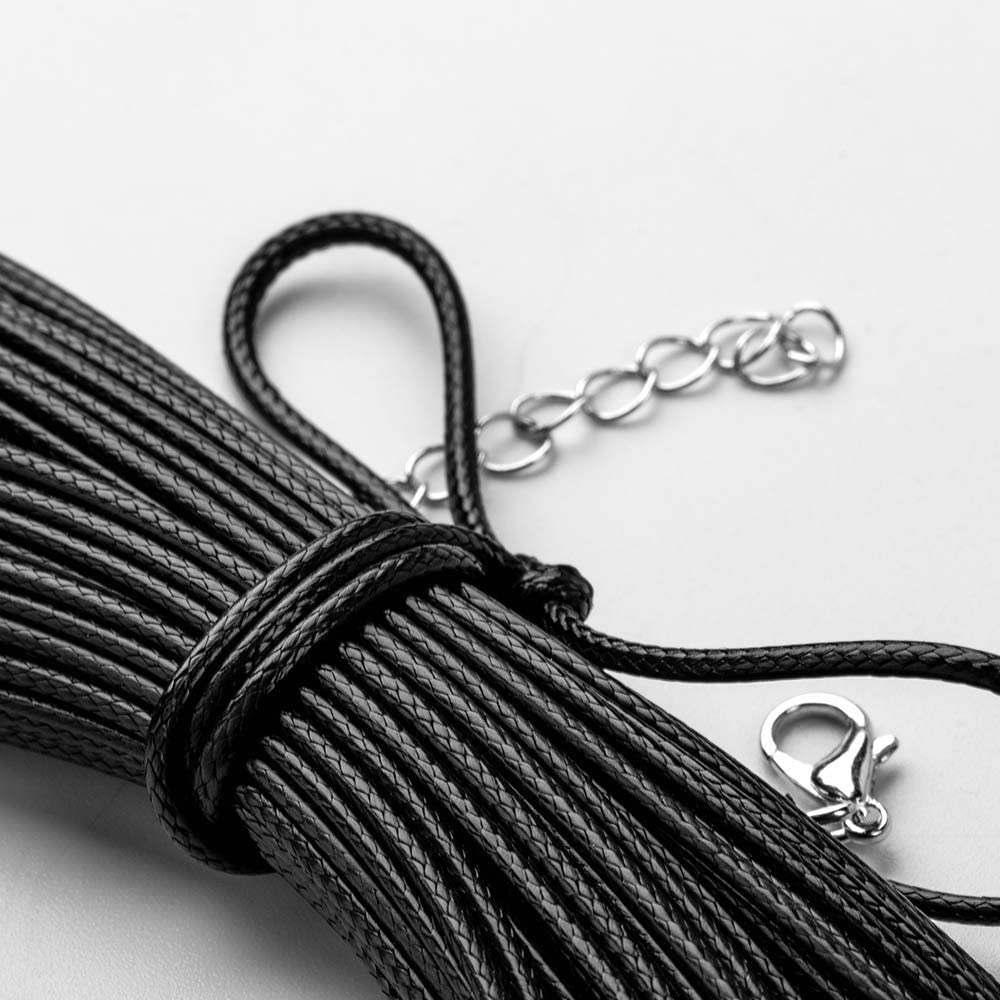 60 Pcs Waxed Necklace Cord 20 Black for Necklace Jewelry Making
