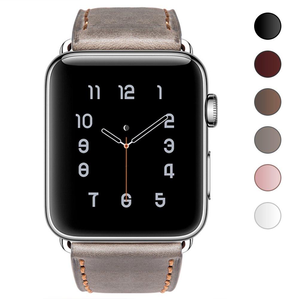 オリジナル Apple Watchバンド42 mm 38 mm、ouluoqi本革交換iWatchバンドステンレスメタルバックル付きApple Apple Watchシリーズ2 ,シリーズ1 mm ,スポーツ&エディション mm|グレー B076BC5KZJ グレー 38 mm 38 mm|グレー, タイヤスタイル:ad5ba94c --- diceanalytics.pk