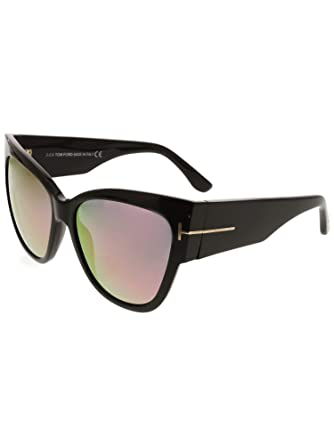 24771b6414ba0 Sunglasses Tom Ford FT 0371 Anoushka 01Z shiny black/gradient or mirror  violet