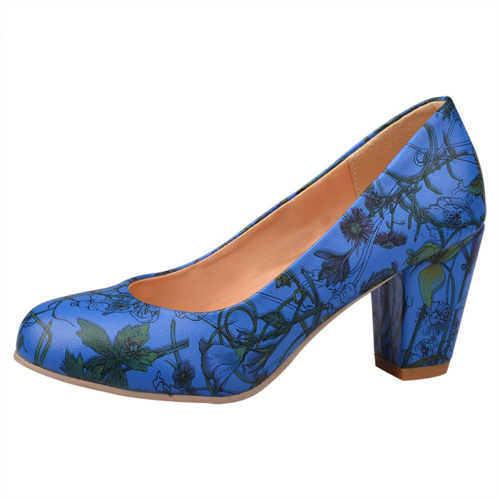 Ai Ya-liangxie Frühling Herbst Plus Größe 31-47 Drucken Frauen Schuhe Princess Style High-Heeled Partei Datum Hochzeit Pumpen Weibliche Schuhe Frau  | Authentische Garantie  | Outlet Online