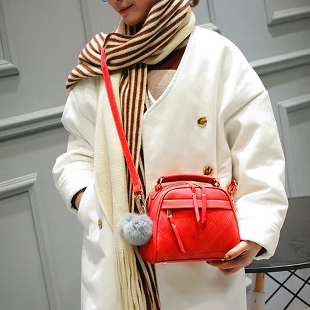 Tuankay Women Messenger Handbag Shoulder Bag PU Leather Satchel Sling Bag Cameo