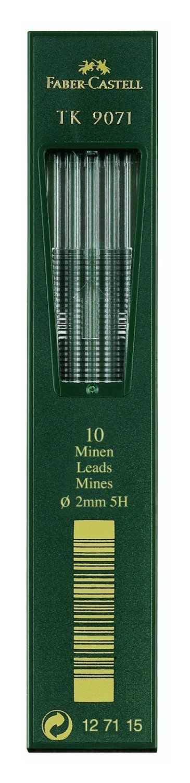 Faber-Castell 127115-10 mine TK 9071, spessore da 2,0 mm, durezza 5H F127115