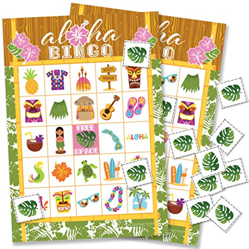 Hawaiian Luau Bingo Game - 24 Players -