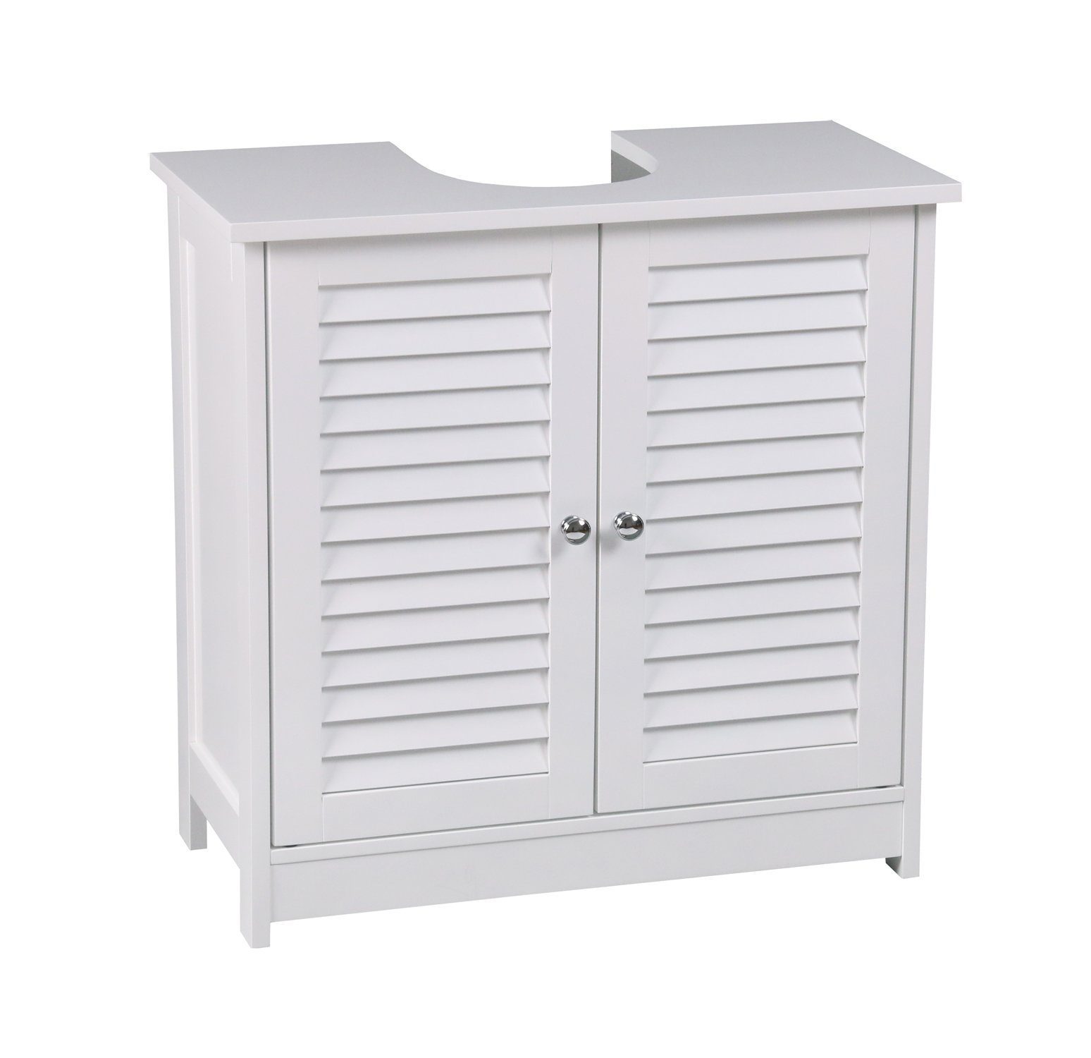 aspect oslo bathroom storage under sink cabinet white 60