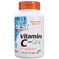 Doctor's Best Vitamin C with Quali-C 1000 mg, Healthy Immune System, Brain, Eyes, Heart and Circulation, Joints, Sourced from Scotland, 360VC