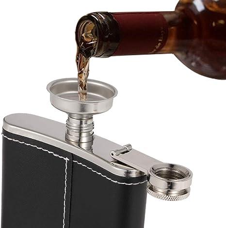 4oz whisky tasca fiaschetta da vino liquore alcol wedding party drink bottiglia imbuto Collectsound